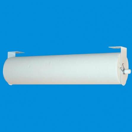 Distributeur en metal blanc pour draps d'examen