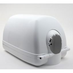 Distributeur d'essuie-mains pour bobine MAXI à dévidage central en plastique blanc