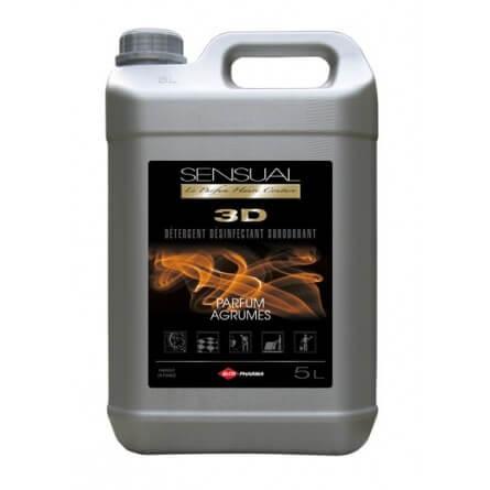Détergent désinfectant surodorant SENSUAL 3D Agrumes bidon 5L
