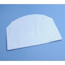 Toques ovales en papier blanc réglable