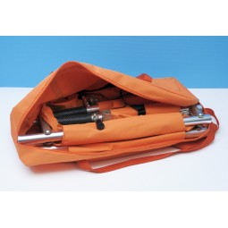 Brancard / civière orange compact et léger pliable en 4