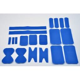 Sachet de 20 pansements assortis plastique bleu