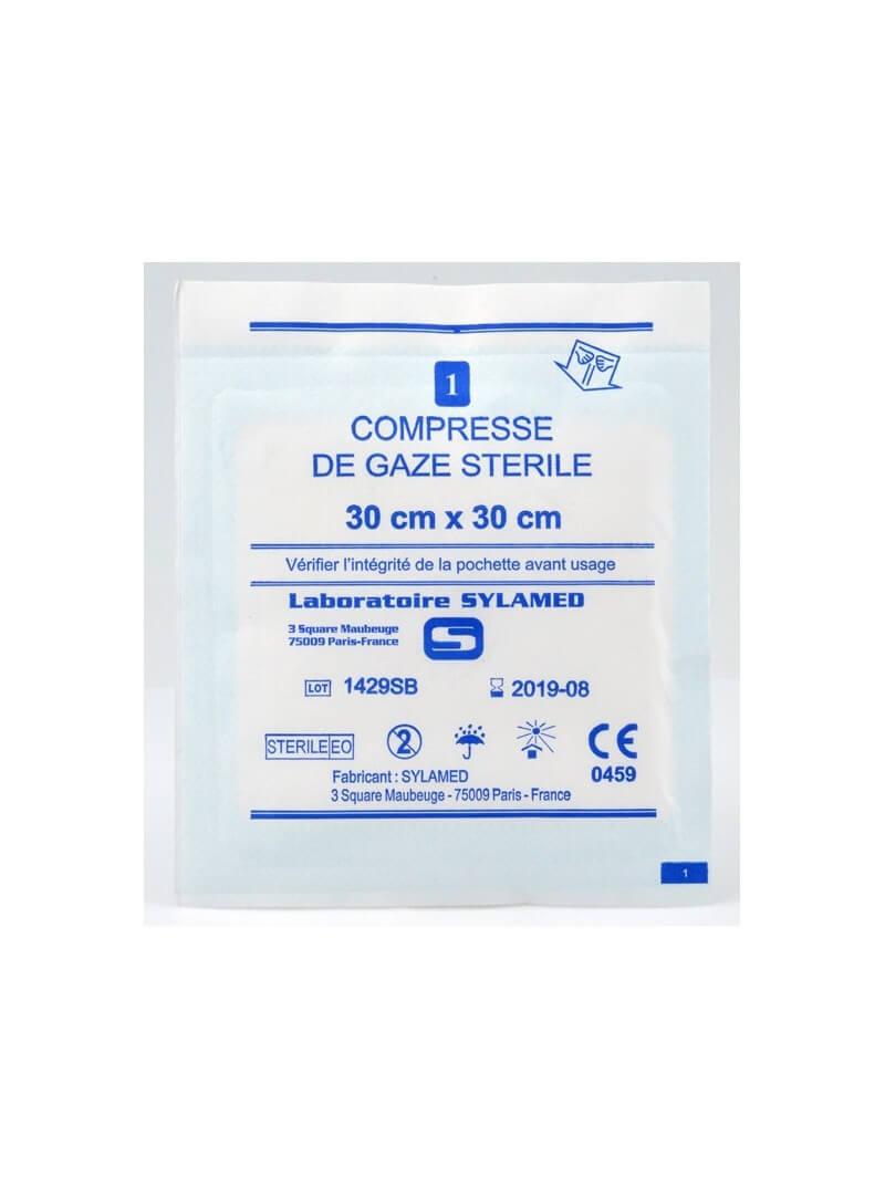 Sachet individuel compresse de gaze stérile 7,5 x 7,5 cm