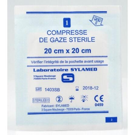 Sachet individuel compresse de gaze stérile 5 x 5 cm