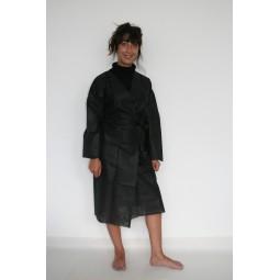 Peignoir Kimono jetable noir T.L femme