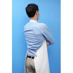 Tablier nitrile armé bretelles simples blanc