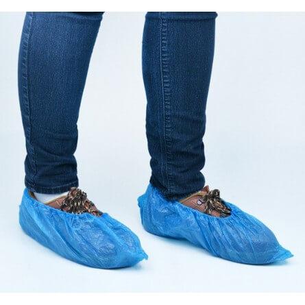 Surchaussures imperméables bleues