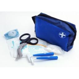 Trousse Intervention Défibrillation bleue produits inclus