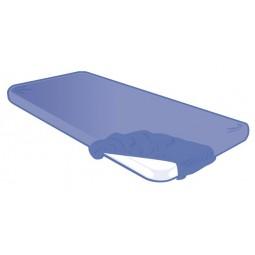 Housse de brancard jetable bleu 70x210x15cm 30g/m²