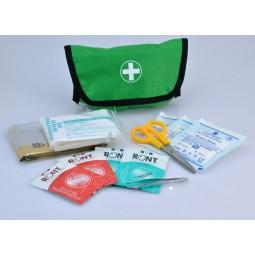 Trousse de secours ECO verte format compact produits inclus