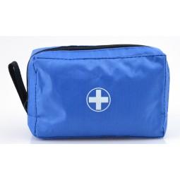 Trousse de premiers secours compacte bleue fermeture à zip  8
