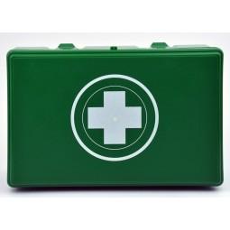 Trousse de premiers secours véhicule verte produits et notice inclus