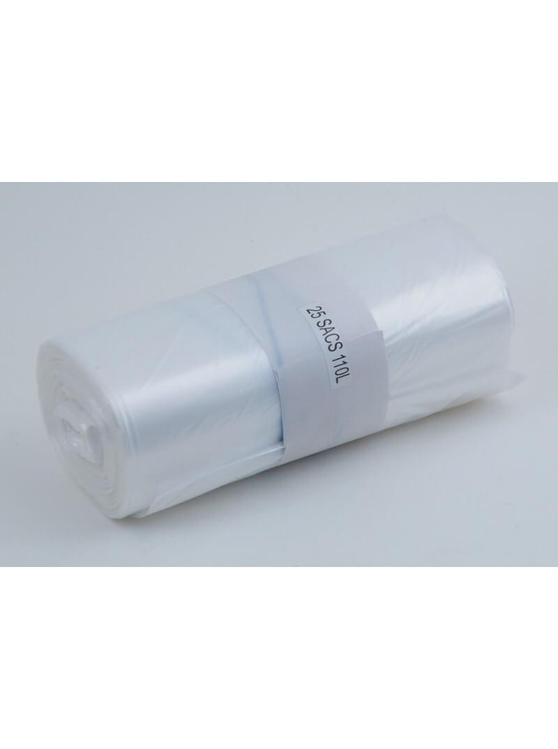 Sacs poubelles 110L PE HD transparent