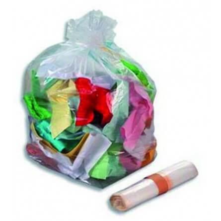 Sacs poubelles 160L PE BD transparent
