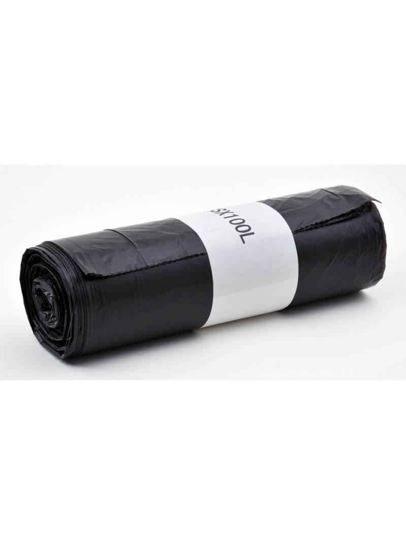 Sacs poubelles 100L PE HD noir