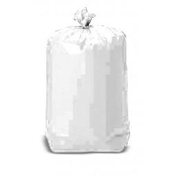 Sacs poubelles 110L PE BD renforcés blancs