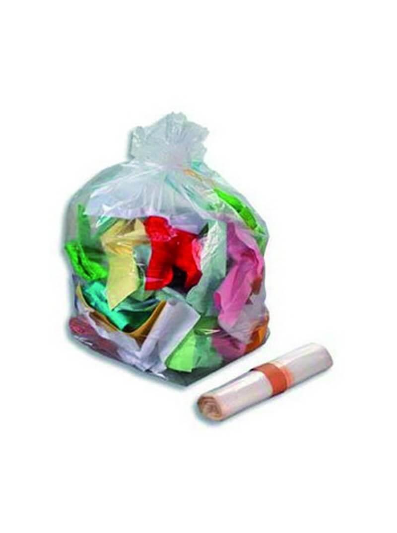 Sacs poubelles 110L PE BD super renforcé transparent