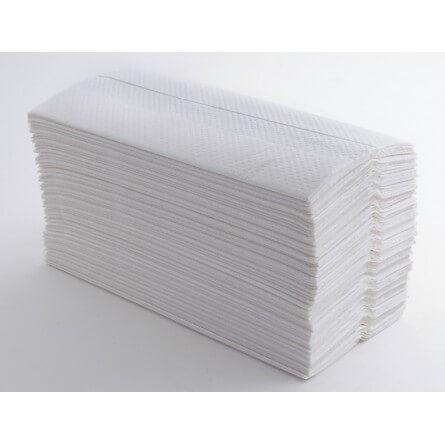 Essuie-mains plié C gaufré blanc double épaisseur