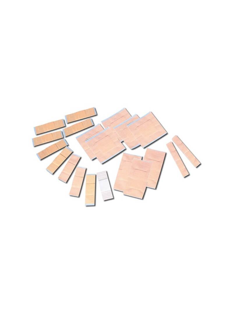 Pansements tissés prédécoupés assortis en boîte
