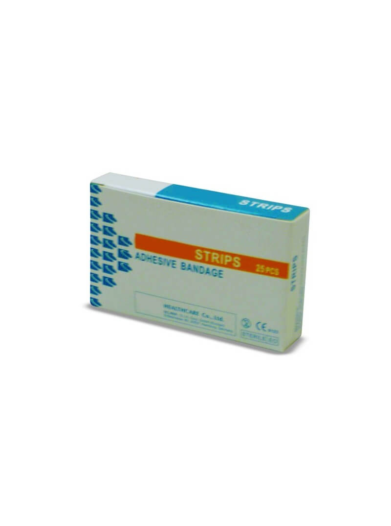 Boîte de 25 pansements plastique 7.2x1.9cm