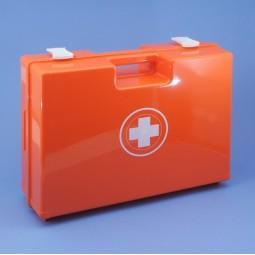 Trousse de secours vide rouge à poignée en ABS orange 400 x 300 x 150 mm