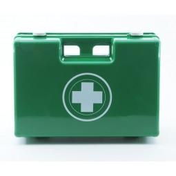 Trousse de secours ABS vide à poignée moulée taille 40 verte à copartiments de rangement