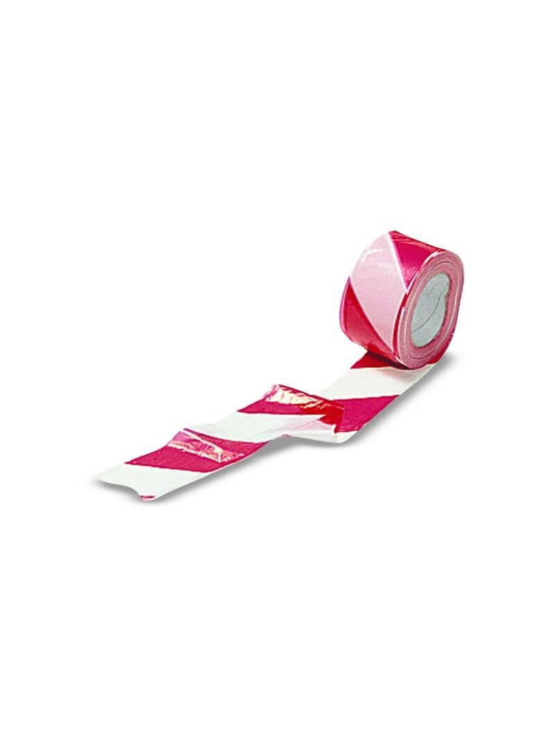 Ruban signalisation rouge & blanc 100m