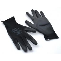 Gants de protection et de manipulation noirs - T.10