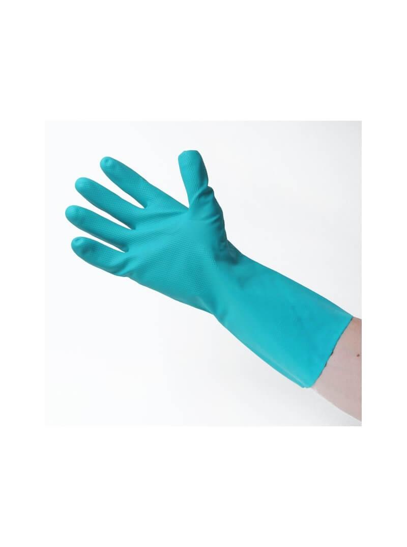 Gants nitrile résistants aux produits chimiques agréés contact alimentaire T.10,5