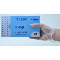 Boîte Gants vinyle micro poudrés T.L (8/9)
