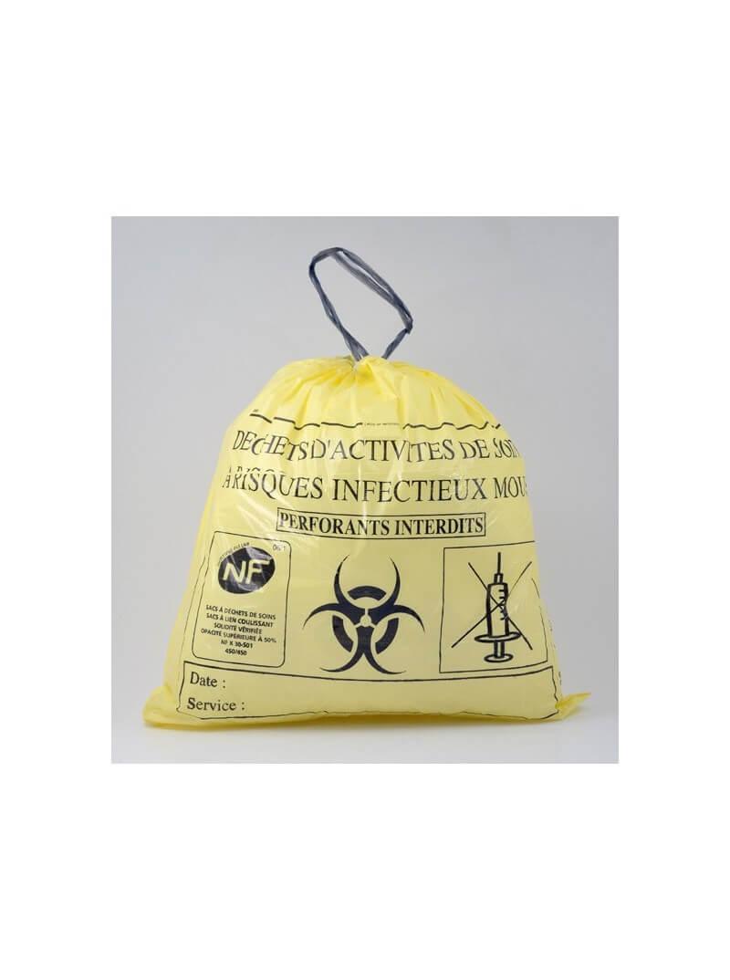 Sacs poubelle 20L pour DASRI jaune