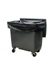 Housses conteneurs 1100L PE BD super renforcé noir