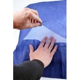 Taie d'oreiller jetable 60x60cm bleue marine