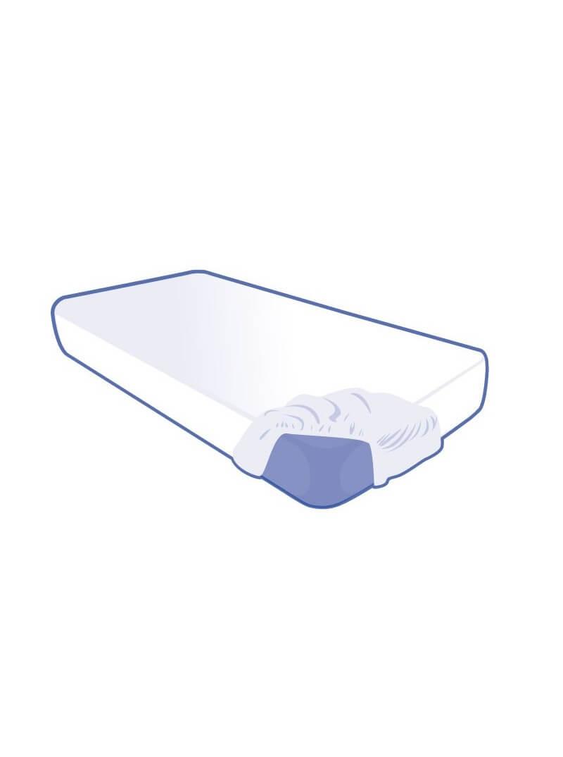 Alèse jetable housse 80x190x15cm blanche pour lit 1 place