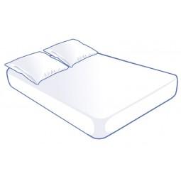 Kit literie jetable blanche pour lit 2 places 140x190x15cm