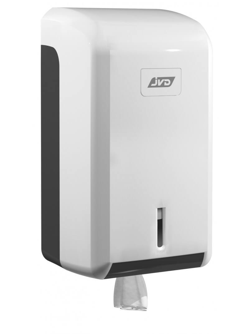 Distributeur d'essuie-mains pour bobine MINI à dévidage central en plastique blanc