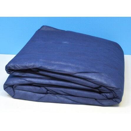 Couette jetable semi durable bleue nuit pour lit 2 places