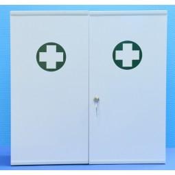 Armoire infirmerie métal 2 portes garnie