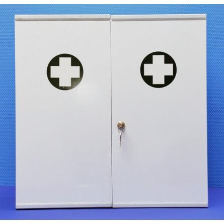 Armoire infirmerie métal 2 portes vide