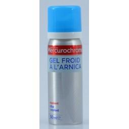 Gel froid à l'arnica effet crépitant Mercurochrome