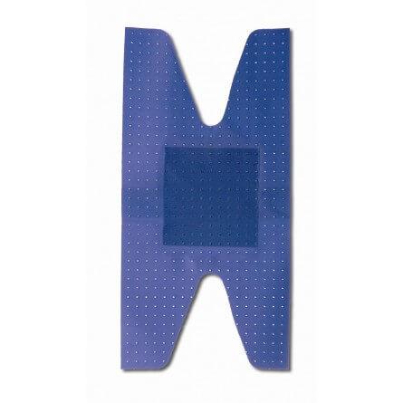 pansement plastique bleu articulations avec compresse 7.5x3.8cm