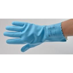 Gants latex sur jersey bleu T.L (9) 1,3mm