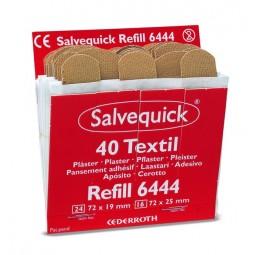 Recharge de 40 pansements tissés Salvequick Cederroth