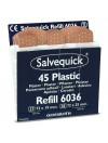 Recharge anti-vol de 45 pansements plastique Salvequick Cederroth