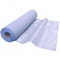 Drap d'examen double épaisseur plastifié bleu 50x38 cm