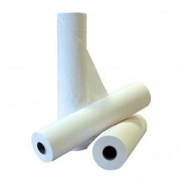 Drap d'examen double épaisseur lisse blanc 50x35cm