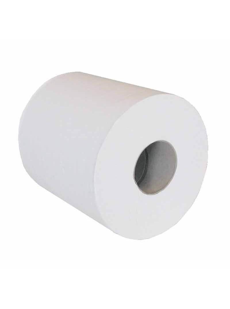 Essuie-mains dévidage central 3 plis blanc lisse recyclé