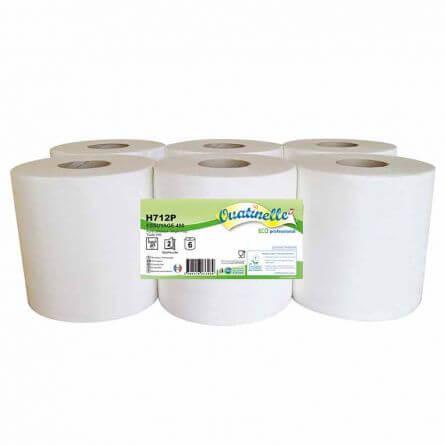 Essuie-mains dévidage central 2 plis blanc gaufré