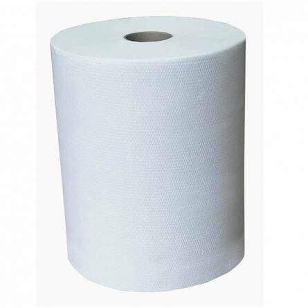 Essuie-mains dévidage latéral 2 plis blanc gaufré