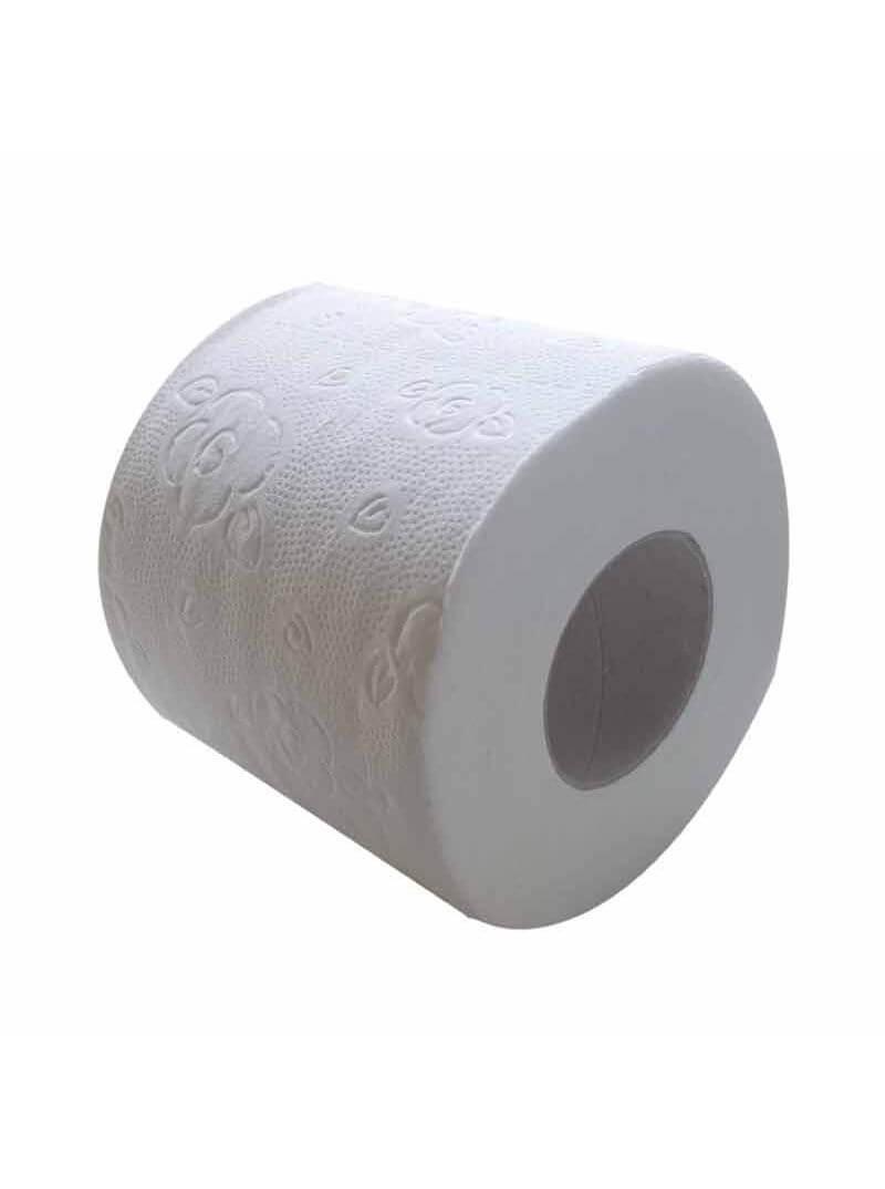 Papier toilette en rouleau 3 plis blanc micro gaufré
